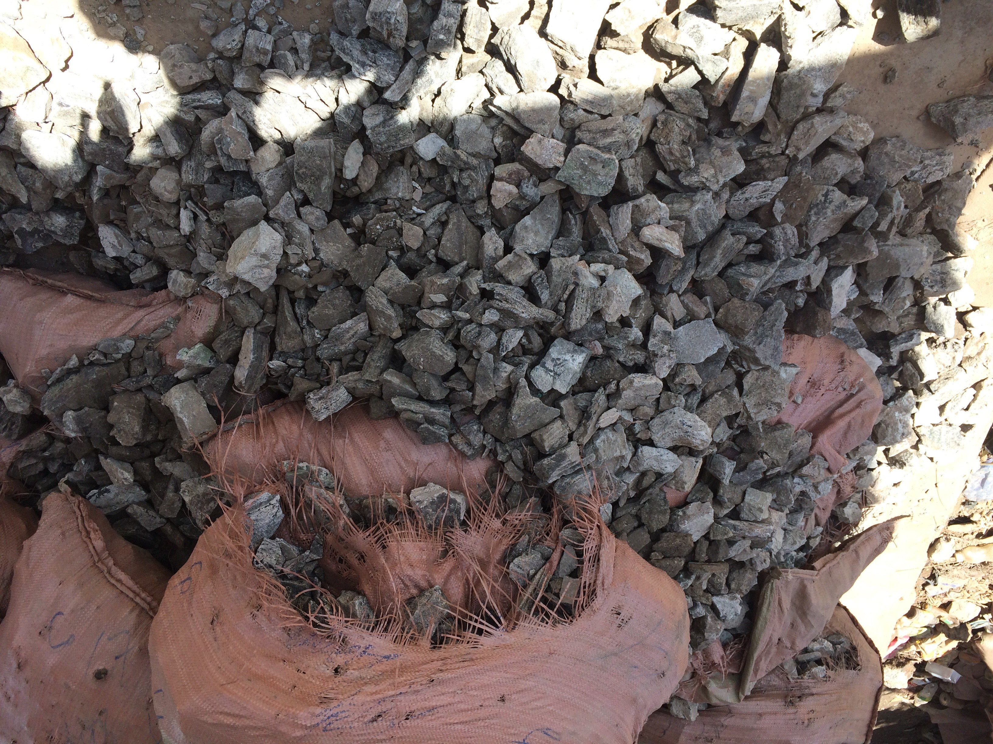 Sacks of copper and cobalt ore. © Andrew Cooke, Levin Sources, 2018