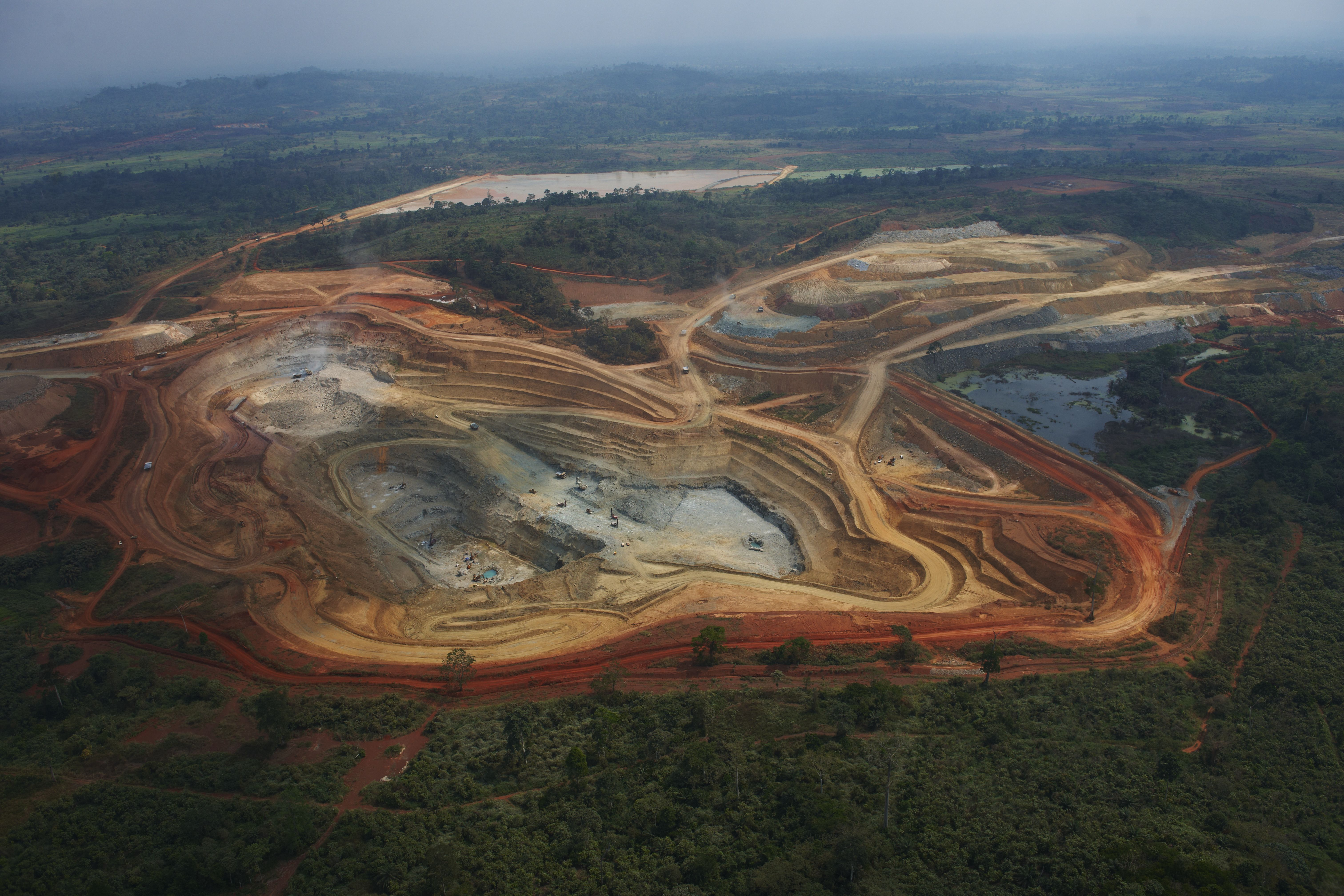 Large-scale mine in Cote d'Ivoire