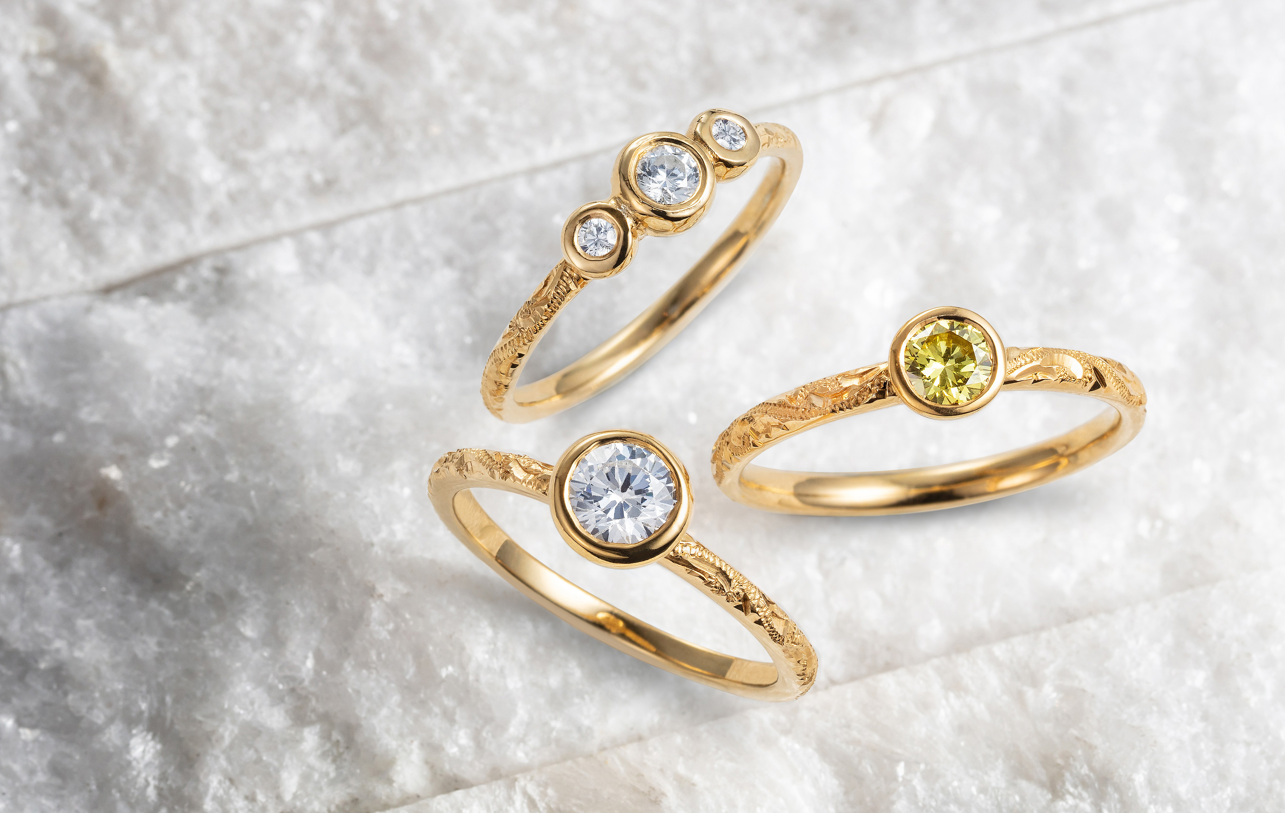 Arabel Lebrusan's Hera Collection, traceable sapphires and diamonds on ethical gold
