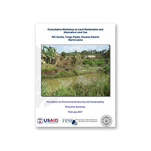 Consultative Workshop on Land Reclamation and Alternative Land Use: Sierra Leone