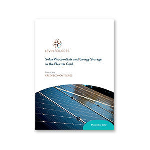 Green Economy Series: Solar Photovoltaic and Energy Storage in the Electric Grid